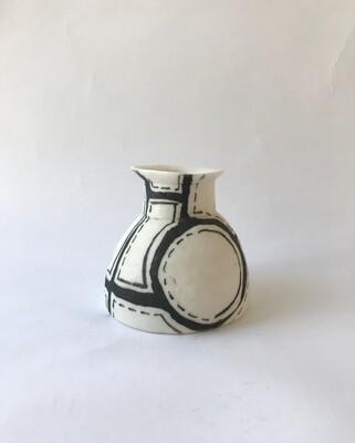 small hand built vase-borders