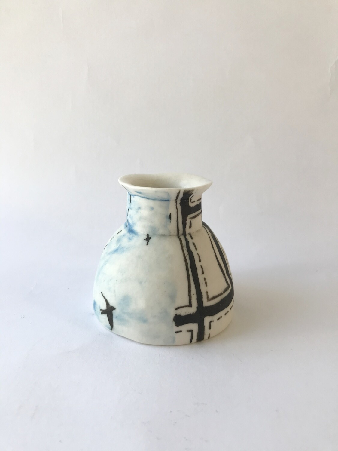 borders (small hand built vase)