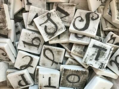 scrabble letters   a-z