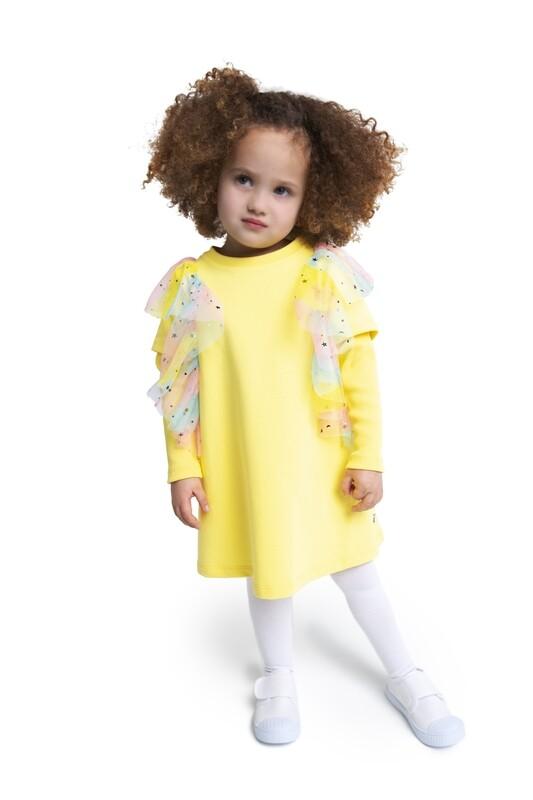 Платье с крылышками из фатина BABY