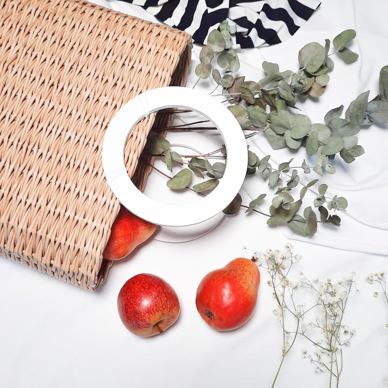 Плетеная сумочка-лукошко
