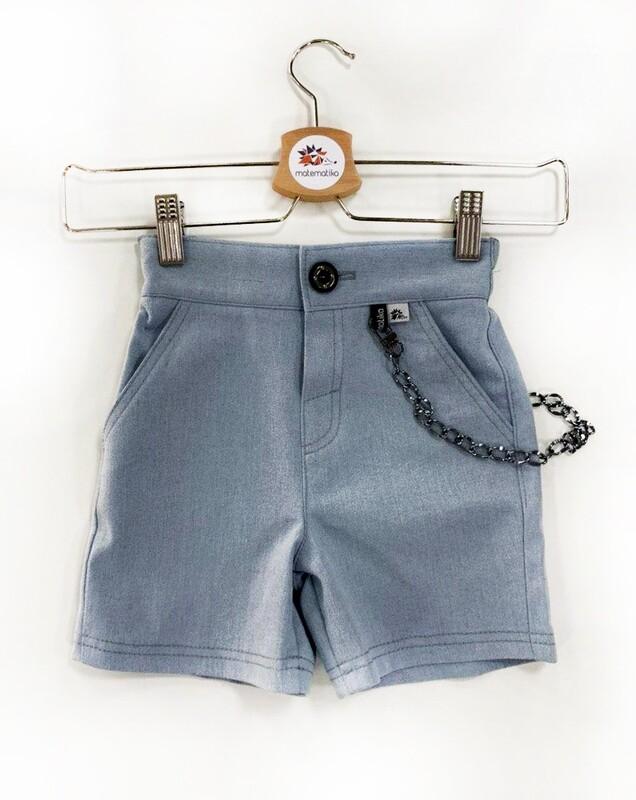 Шорты-джинс с цепочкой