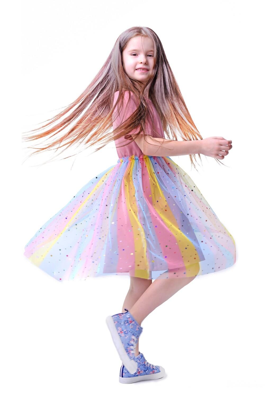 Платье со сверкающим подолом BABY (ПОСЛЕДНИЕ РАЗМЕРЫ!)