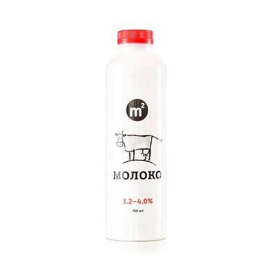 Молоко пастеризованное цельное 3.2-4% (предзаказ)