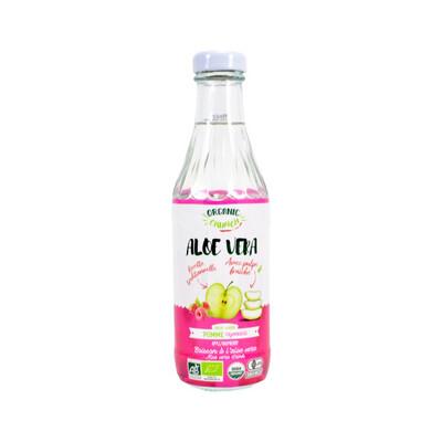 Органический напиток на основе алоэ вера со вкусом яблока и малины с кусочками алоэ, ORGANIC CRUNCH