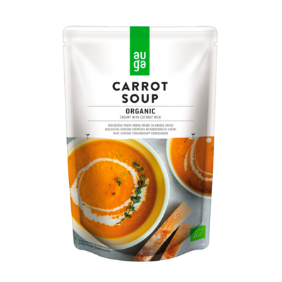Органический морковный крем-суп с кокосовым кремом