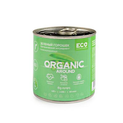Органический зеленый горошек