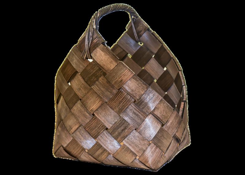 Puukori, pärekori rottinkisangalla, p. 40 cm