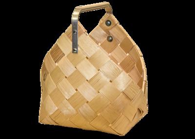 Puukori, pärekori metallisangalla, p. 40 cm