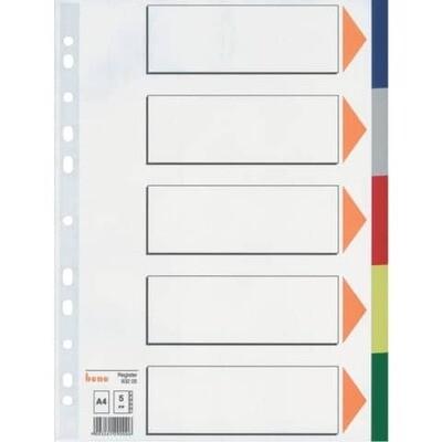 Farbregister Bene PP A4  5 od. 10 tlg.