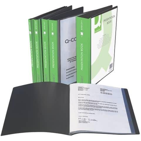 Q-Connect Panorama Sichtbücher A4 schw.
