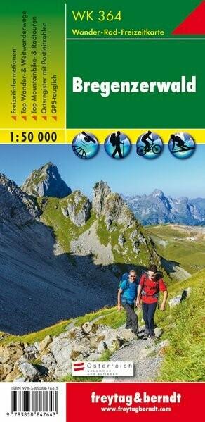 Wanderkarte Freytag& Berndt Bregenzerwald