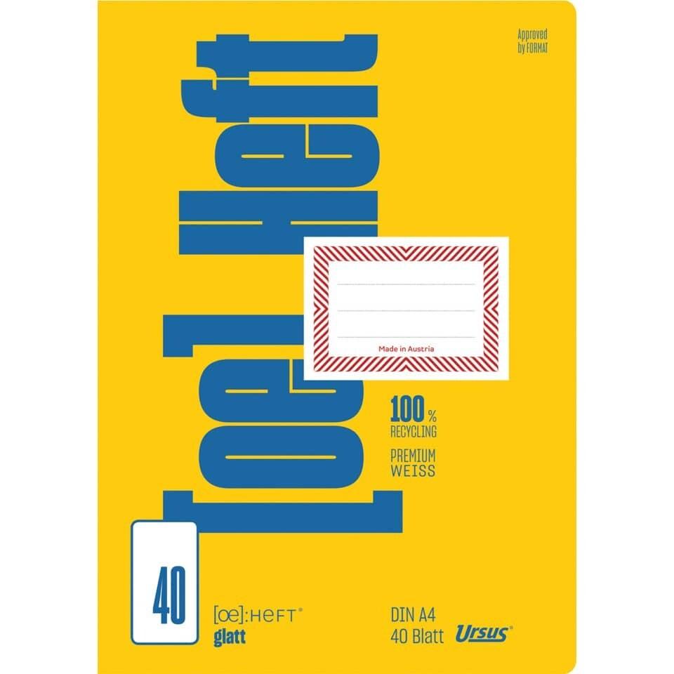 Schulheft Ursus A4 40 Blatt