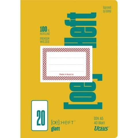 Schulheft Ursus A5 40 Blatt