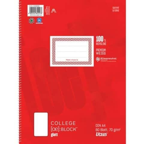 Kollegblock A4 80 Blatt Ursus