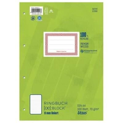 Ringbuchblock A4 100 Blatt Ursus