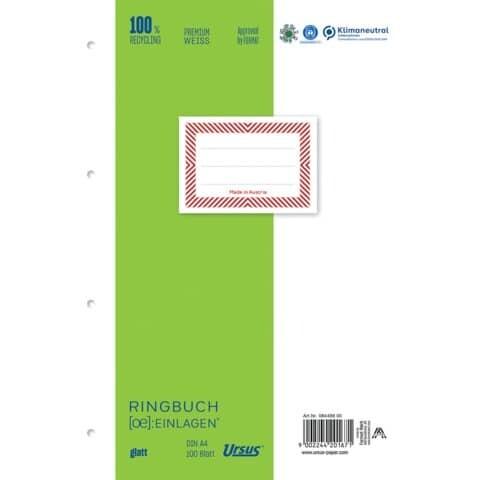 Ringbucheinlage A4 100 Blatt Ursus