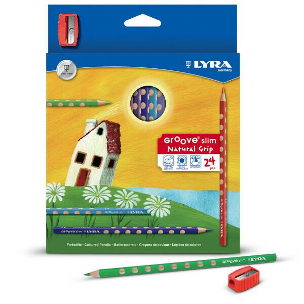 Farbstifte Lyra Groove Slim – ergonomische dünn 3,3mm DM 12er Kartonetui