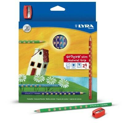 Farbstifte LYRA Groove Slim – ergonomische dünn 3,3mm DM 24er Kartonetui