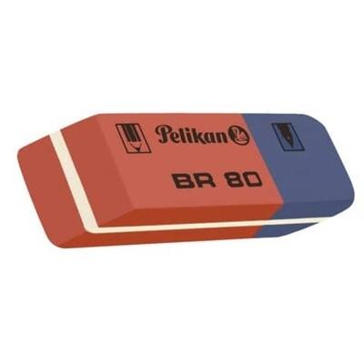 Radiergummi Pelikan rot/blau BR40