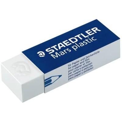 Plastikradierer weiß Staedtler Marsplastik