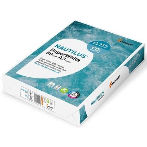 Kopierpapier A3 80g Nautilus Super White CO2 klimaneutral