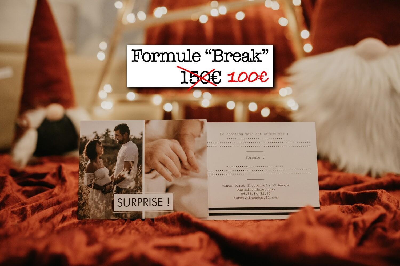 """Carte cadeau - Séance photo - Formule """"Break"""""""