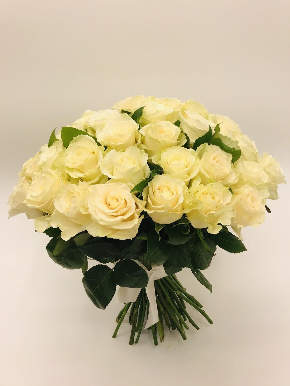 Роза Белая Эквадор 50 см