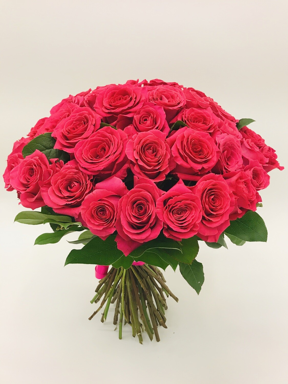 Роза Розовая пионовидная Эквадор 51 шт.