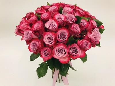 Роза Малиновая Эквадор 50 см 25 шт