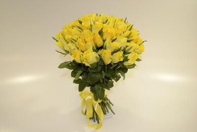 Роза Желтая 51 шт.