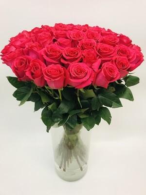 Роза розовая пионовидная Эквадор 70 см 25 шт