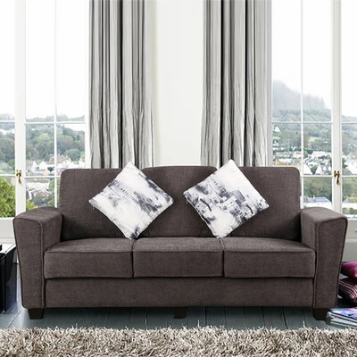 Global Sofa Set in Grey Color