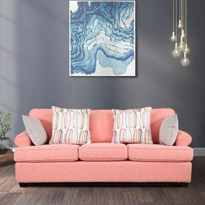 Beauty Sofa Set in Orange Color