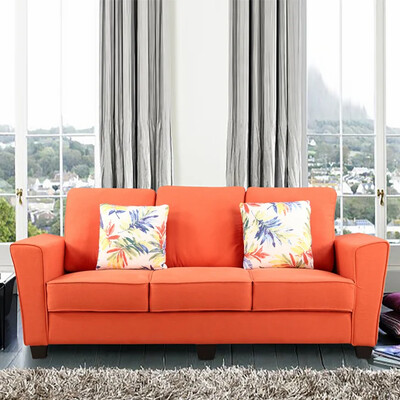 Global Sofa Set in Orange Color