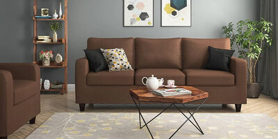 Crystal Sofa Set in Brown Color