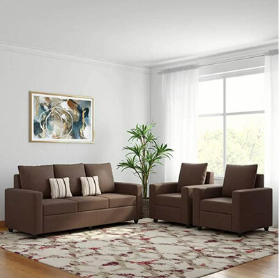 Superb Sofa Set in Brown Color
