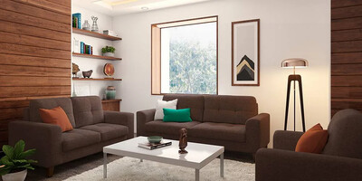 Apollo Sofa Set in Brown Color