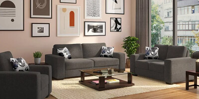 High Star Sofa Set in Grey Color