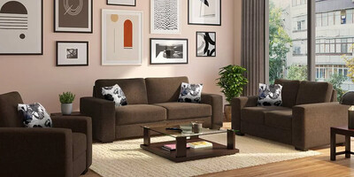 High Star Sofa Set in Brown Color