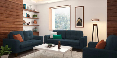 Apollo Sofa Set in Blue Color