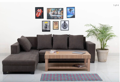 Mia Sectional Sofa Set in Brown Color