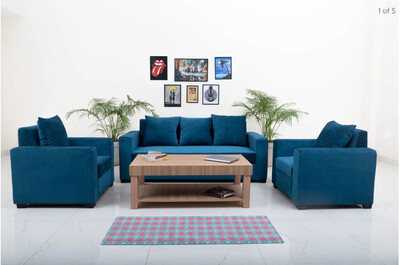 Supreme Sofa Set in Blue Color