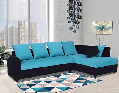 Miranda Sectional Sofa Set in Blue Color
