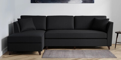 Pirates Sectional Sofa Set in Black Color