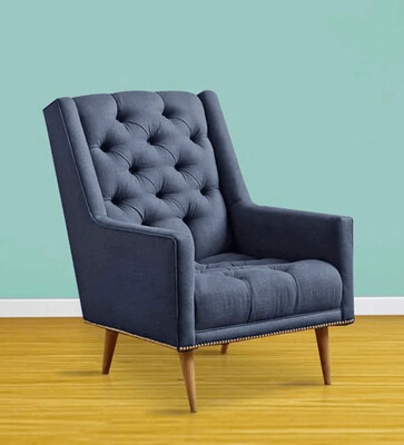Reo Wing Chair in Blue Color