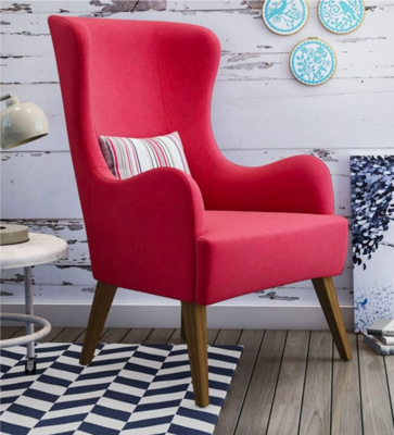 Deo Wing Chair in Red Color