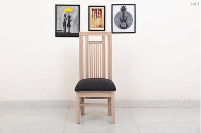 Classic Wooden Chair in Beige Color