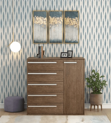 Kiku Chest of Drawers in Brown Color