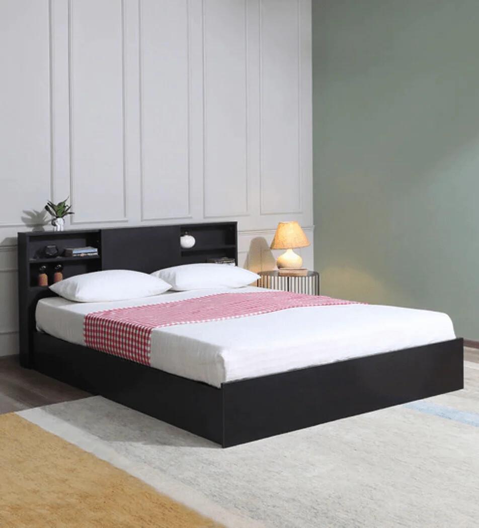 Tanaji Bed in Brown Color